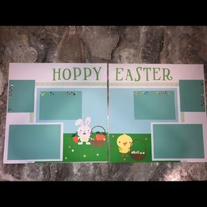 Premade Easter Scrapbook Pages